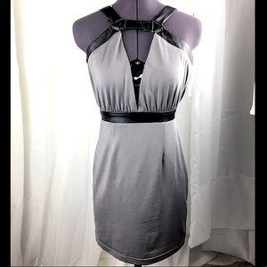 TOBI Grey and Black Harness Dress
